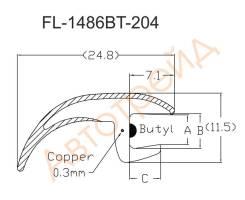 Молдинг лобового стекла HUMMER H2 04- FL-1486BT FLEXLINE