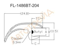 Молдинг лобового стекла HUMMER H2 04- FL-1486BT, AG12A, 25913255, 15857805, 15102299, 25832133