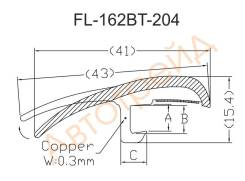 Молдинг лобового стекла HUMMER H3 06- FL-1626BT, AG13A, 15900257