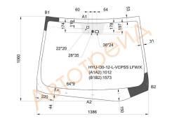 Стекло лобовое в клей HYUNDAI I30 5D HBK 2012- XYG HYU-I30-12-L-VCPSS LFW/X