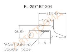 Молдинг лобового стекла INFINITI M35/M45 SEDAN 04-