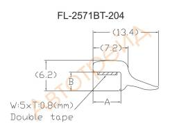 Молдинг лобового стекла INFINITI M35/M45 SEDAN 04- FLEXLINE FL-2571BT