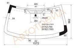 Стекло лобовое в клей JEEP GRAND CHEROKEE 99-04 XYG DW01554 LFW/X