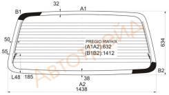 Стекло заднее (крышка багажника) с обогревом KIA PREGIO VAN 96- XYG PREGIO RW/H/X