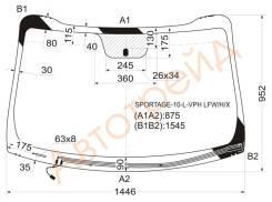 Стекло лобовое с обогревом щеток в клей KIA SPORTAGE III 2010- XYG SPORTAGE-10-L-VPH LFW/H/X