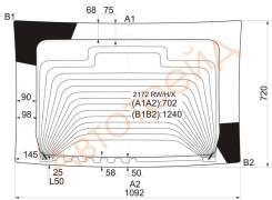Стекло заднее (крышка багажника) с обогревом LADA PRIORA 2170 HBK 07-