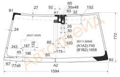 Стекло лобовое в клей LEXUS LX470 98-07 (NIGHT VISION)