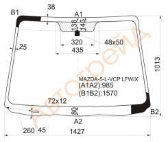 Стекло лобовое в клей Mazda 5, Premacy 05-10 (N0127904), переднее