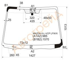 Стекло лобовое в клей MAZDA 5/PREMACY 05-10 XYG MAZDA-5-L-VCP LFW/X