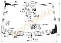 Стекло лобовое с обогревом щеток в клей MERCEDES GL/ML-CLASS W166 2012- XYG W166-VCSSHA LFW/H/X