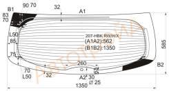 Стекло заднее (крышка багажника) с обогревом PEUGEOT 207 3D/5D HBK 2006-