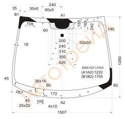 Стекло лобовое в клей PEUGEOT 3008/5008 5D MPV 09- XYG 3008VCPLFWX