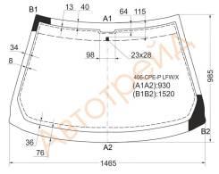 Стекло лобовое в клей PEUGEOT 406 96-04 2D XYG 406CPEPLFWX