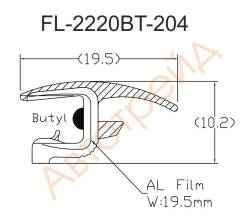 Молдинг лобового стекла VOLVO S60/V70 /XC70 00-09 FLEXLINE FL-2220BT