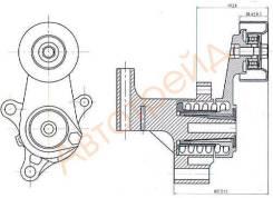 Натяжитель приводного ремня TOYOTA 1/2TRFE 02- (90916-02640) SAT ST-16620-75010