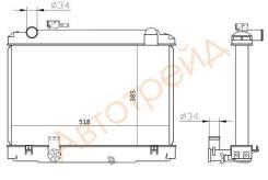 Радиатор TOYOTA DYNA LY101 3L/5L 97- TY0062-1, 16400-5B210, 16400-5B190, 16400-5B191, 16400-5B451, 16400-5B520, 16400-5B521, PL011081, PL011077, D75-T...