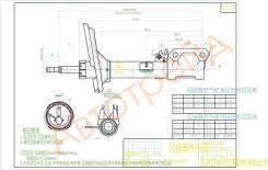 Стойка задняя 2WD TOYOTA HARRIER 03-/KLUGER 01- RH SAT ST-48530-49275