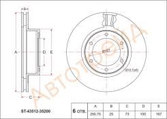 Диск тормозной передний TOYOTA HILUX #ZN130/LN130 91-95/4RUNNER RN1##/VZN13# 91-95