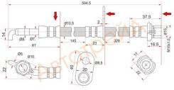 Шланг тормозной RR TOYOTA CAMRY/WINDOM/LEXUS ES240/300/330/350 01- LH SAT ST-90947-02F61