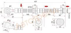 Шланг тормозной передний (Таиланд) NISSAN BLUEBIRD/PRIMERAI/NFINITI G20 94-01 RH SAT ST-46210-2J005