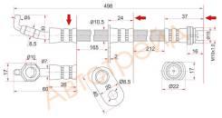 Шланг тормозной передний (Таиланд) TOYOTA RAV4 94-00/RR CALDINA/CARINA/CORONA 4WD 92- RH