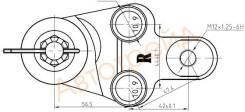 Шаровая нижняя SAT ST-43330-39775, правая передняя