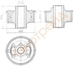 Сайлентблок RR переднего нижнего рычага TOYOTA AVENSIS/AURIS/BLADE/COROLLA/RUMION/MARK X ZIO/RAV4 05 SAT ST4865502130
