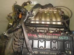 Контрактный б/у двигатель + КПП Mitsubishi 6G73