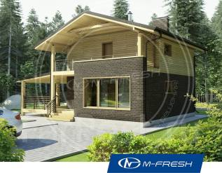 M-fresh Compact-зеркальный (Проект дома с красивой мансардой! ). 100-200 кв. м., 1 этаж, 3 комнаты, бетон