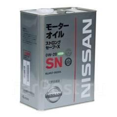 Nissan. Вязкость 0W-20, синтетическое