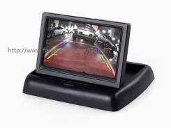 Автомобильный складной монитор. 2 видеовхода. 4,3 дюйма.