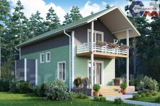 Проект Лазурный. 100-200 кв. м., 2 этажа, 4 комнаты, каркас