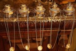 Коллекция из шести серебряных лампад эпохи Ампира. Россия, XIX век. Оригинал