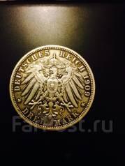 Монета Германия, серебро 1909 год