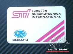 Табличка. Subaru
