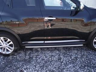 Молдинги дверей на Nissan Juke (хром накладки на двери)