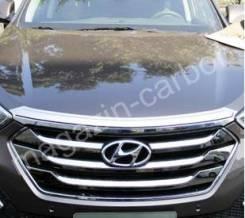 Дефлектор капота. Hyundai Santa Fe, DM Двигатели: G4KE, D4HB