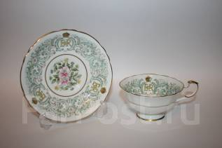 Чайная пара, коронация Елизаветы II. Фарфор. 1953 год. Англия. Оригинал
