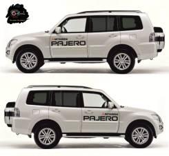 Комплект наклеек на передние двери Mitsubishi Pajero IV