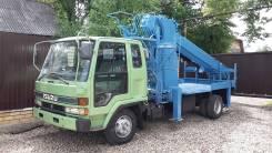 Isuzu Forward. Автобуровая, ямобур, бурильно крановая машина на шасси Исудзу Форвард, 7 500 куб. см.