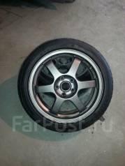 Продам комплект колес RAYS TE37 R17 с резиной Триангл. 7.5x17 5x114.30 ET35