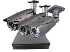 Комплект для видеонаблюдения 3 FullHD IP камеры 2.8-12mm и регистратор. с объективом