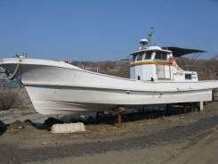 Рыболовная шхуна Komatsu от Цитадель-марин. длина 13,00м., двигатель стационарный, 270,00л.с., дизель