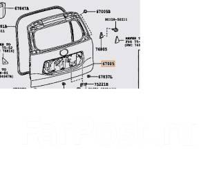 Дверь багажника. Lexus GX460, GRJ158, URJ150 Lexus GX400, GRJ158, URJ150 Toyota Land Cruiser Prado, GRJ150, GRJ150L, GRJ150W, KDJ150, KDJ150L, KDJ155...