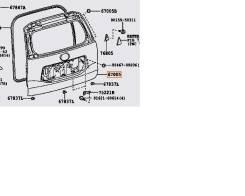 Дверь багажника. Toyota Land Cruiser Prado, TRJ150W, GRJ151, GRJ150, GRJ150L, GRJ150W, GRJ151W, TRJ150 Двигатели: 2TRFE, 1GRFE