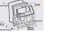 Дверь багажника. Toyota Land Cruiser Prado, TRJ125, RZJ120, LJ120, LJ125, KDJ125, TRJ120, GRJ120, KZJ120, GRJ125, KDJ120, RZJ125 Двигатели: 1GRFE, 3RZ...