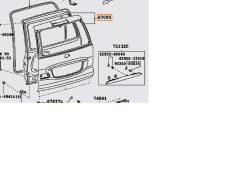 Дверь багажника. Toyota Land Cruiser Prado, GRJ120W