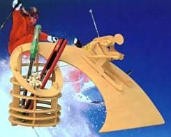 Подставка для карандашей и ручек «Лыжник» (сделай сам)