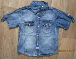 Рубашки джинсовые. Рост: 110-116, 116-122 см