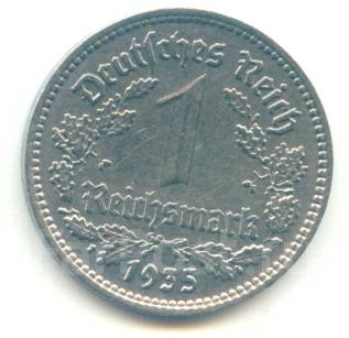 Германия 1 марка 1935 А
